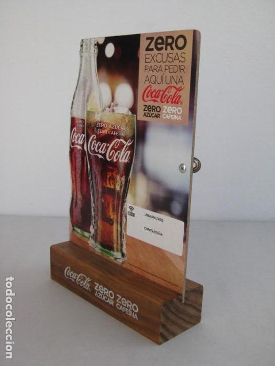 Coleccionismo de Coca-Cola y Pepsi: Expositor Coca Cola zero, zero cafeina - Foto 5 - 153720422