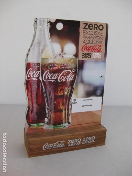EXPOSITOR COCA COLA ZERO, ZERO CAFEINA (Coleccionismo - Botellas y Bebidas - Coca-Cola y Pepsi)