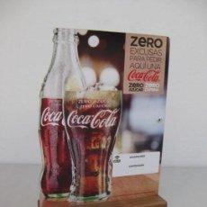Coleccionismo de Coca-Cola y Pepsi: EXPOSITOR COCA COLA ZERO, ZERO CAFEINA. Lote 153720786