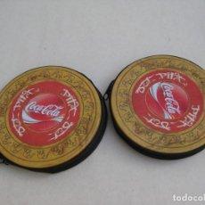 Coleccionismo de Coca-Cola y Pepsi: DOS PORTA CDS METALICOS. Lote 154012102
