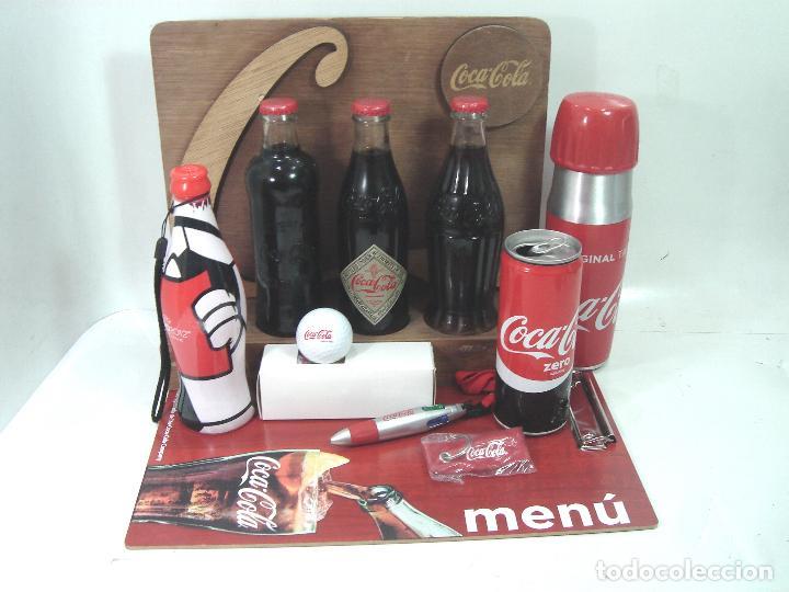 LOTE 13 ARTICULOS COCA-COLA -MENU GOLF LLAVERO EXPOSITOR BOTELLA 125 ANIVERSARIO..ETC COKE COCACOLA (Coleccionismo - Botellas y Bebidas - Coca-Cola y Pepsi)