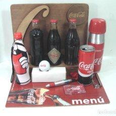 Coleccionismo de Coca-Cola y Pepsi: LOTE 13 ARTICULOS COCA-COLA -MENU GOLF LLAVERO EXPOSITOR BOTELLA 125 ANIVERSARIO..ETC COKE COCACOLA. Lote 154701346