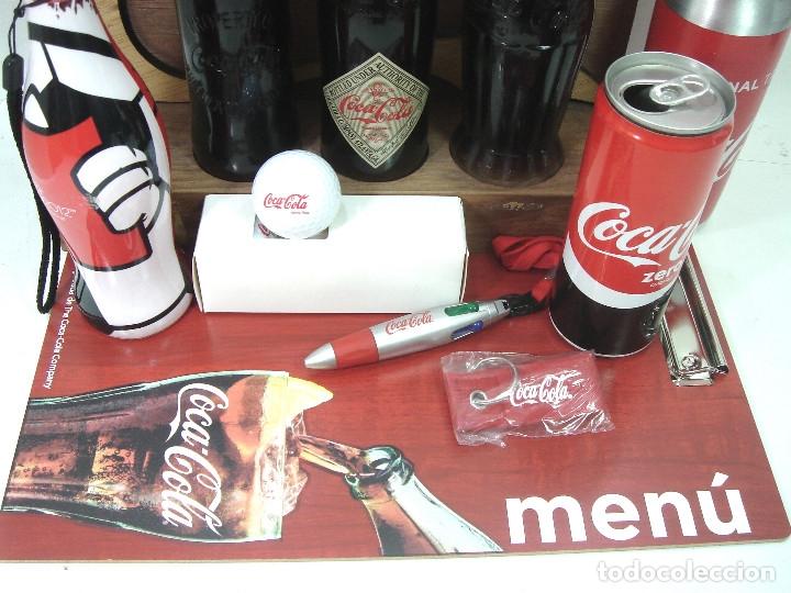 Coleccionismo de Coca-Cola y Pepsi: LOTE 13 ARTICULOS COCA-COLA -MENU GOLF LLAVERO EXPOSITOR BOTELLA 125 ANIVERSARIO..ETC COKE COCACOLA - Foto 4 - 154701346