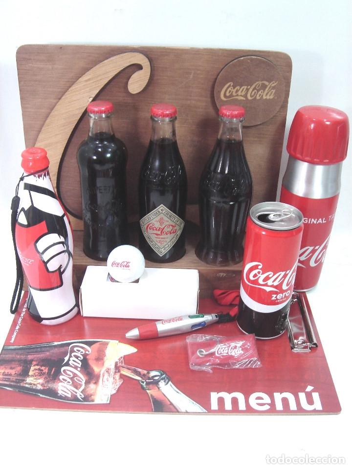 Coleccionismo de Coca-Cola y Pepsi: LOTE 13 ARTICULOS COCA-COLA -MENU GOLF LLAVERO EXPOSITOR BOTELLA 125 ANIVERSARIO..ETC COKE COCACOLA - Foto 2 - 154701346