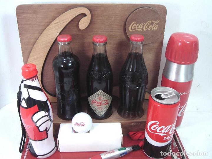 Coleccionismo de Coca-Cola y Pepsi: LOTE 13 ARTICULOS COCA-COLA -MENU GOLF LLAVERO EXPOSITOR BOTELLA 125 ANIVERSARIO..ETC COKE COCACOLA - Foto 3 - 154701346