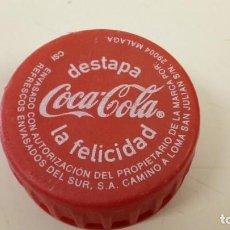 Coleccionismo de Coca-Cola y Pepsi: TAPÓN ROSCA COCA-COLA MÁLAGA CSI PLÁSTICO. Lote 155361750