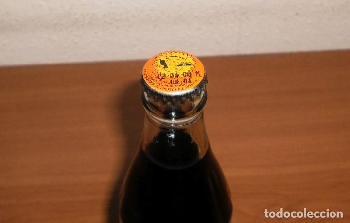 Coleccionismo de Coca-Cola y Pepsi: BOTELLA COCA-COLA MARRUECOS LLENA 35,5 CL NUNCA USADA. RARA. ETIQUETA PRENSADA. CHAPA CON SOL - Foto 3 - 155389174