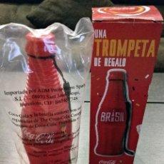 Coleccionismo de Coca-Cola y Pepsi: TROMPETA DEL MUNDIAL DE BRASIL DE COCA COLA. Lote 155392742