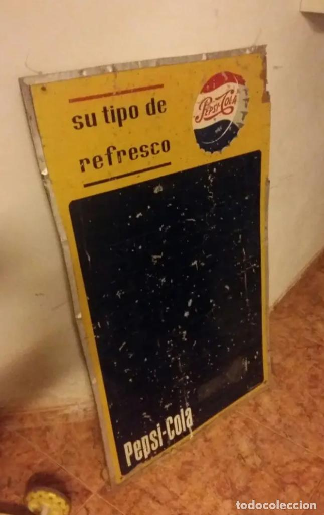 ANTIGUA PIZARRA AUTENTICA DE PEPSI (Coleccionismo - Botellas y Bebidas - Coca-Cola y Pepsi)