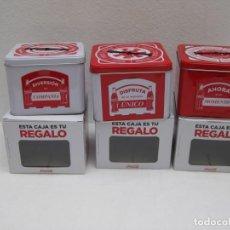 Coleccionismo de Coca-Cola y Pepsi: LOTE DE 3 CAJAS METÁLICAS COCA COLA. COLECCION COMPLETA.. Lote 158152778