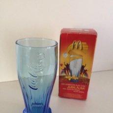 Coleccionismo de Coca-Cola y Pepsi: VASO AZUL CON CAJA 14CM MC DONALD. Lote 158880282