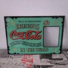 Coleccionismo de Coca-Cola y Pepsi: COCA COLA CRISTAL CON PUBLICIDAD VINTAGE COCA COLA. Lote 160165120