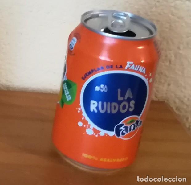 LATA FANTA NARANJA, EJEMPLAR DE LA FAUNA 56 LA RUIDOS. CAN BOTE (Coleccionismo - Botellas y Bebidas - Coca-Cola y Pepsi)