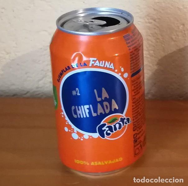LATA FANTA NARANJA, EJEMPLAR DE LA FAUNA 2 LA CHIFLADA. CAN BOTE (Coleccionismo - Botellas y Bebidas - Coca-Cola y Pepsi)