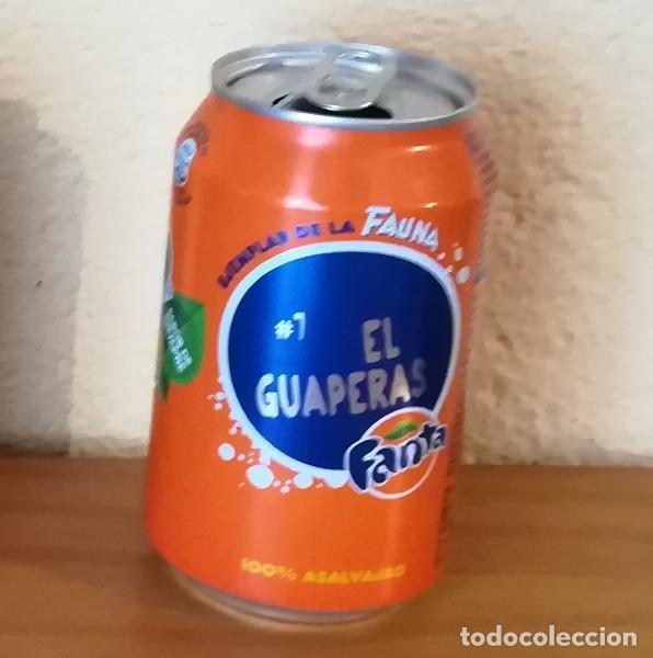 LATA FANTA NARANJA, EJEMPLAR DE LA FAUNA 7 EL GUAPERAS. CAN BOTE (Coleccionismo - Botellas y Bebidas - Coca-Cola y Pepsi)