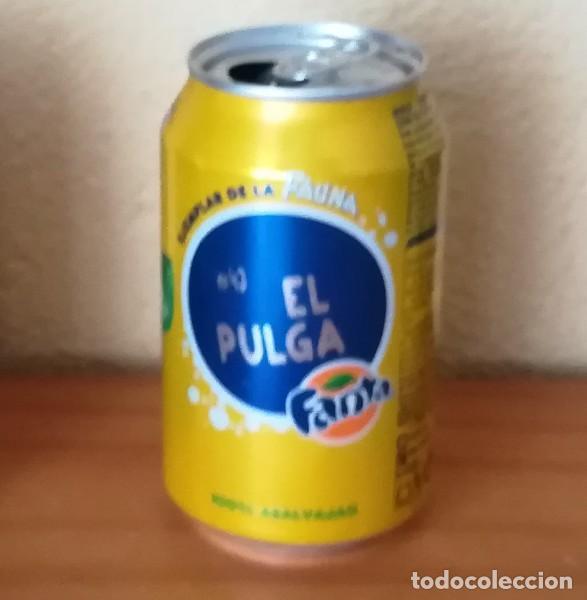 LATA FANTA LIMON, EJEMPLAR DE LA FAUNA 43 EL PULGA. CAN BOTE (Coleccionismo - Botellas y Bebidas - Coca-Cola y Pepsi)