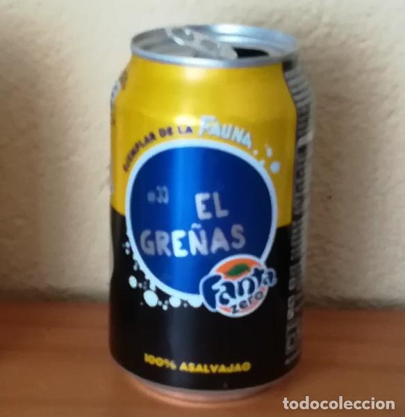 LATA FANTA ZERO LIMON, EJEMPLAR DE LA FAUNA 33 EL GREÑAS. CAN BOTE (Coleccionismo - Botellas y Bebidas - Coca-Cola y Pepsi)