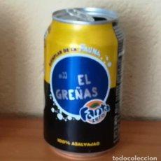 Coleccionismo de Coca-Cola y Pepsi: LATA FANTA ZERO LIMON, EJEMPLAR DE LA FAUNA 33 EL GREÑAS. CAN BOTE. Lote 160690302