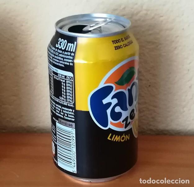 Coleccionismo de Coca-Cola y Pepsi: LATA FANTA ZERO LIMON, EJEMPLAR DE LA FAUNA 33 EL GREÑAS. CAN BOTE - Foto 2 - 160690302