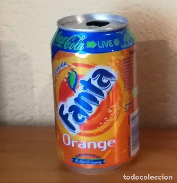 LATA FANTA ORANGE LIVE MTV. FRANCIA CAN BOTE NARANJA (Coleccionismo - Botellas y Bebidas - Coca-Cola y Pepsi)