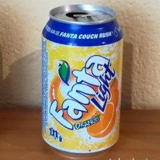 Coleccionismo de Coca-Cola y Pepsi: LATA FANTA LIGHT ORANGE. HOLANDA CAN BOTE NARANJA COUCH RUSH. Lote 160690866