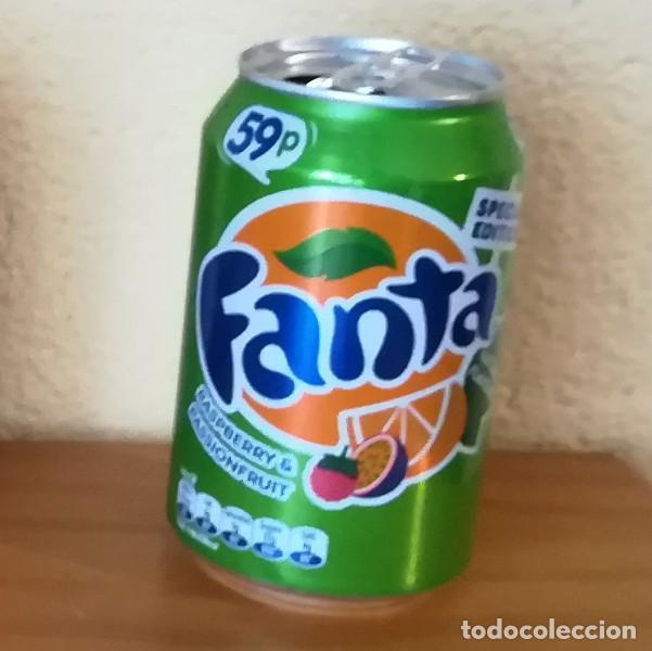 LATA FANTA RASPBERRY & PASSIONFRUIT. UK CAN BOTE SPECIAL EDITION 59P FRAMBUESA (Coleccionismo - Botellas y Bebidas - Coca-Cola y Pepsi)