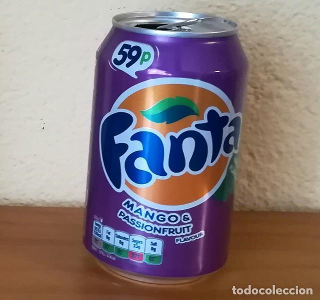 LATA FANTA MANGO & PASSIONFRUIT. UK CAN BOTE 59P (Coleccionismo - Botellas y Bebidas - Coca-Cola y Pepsi)