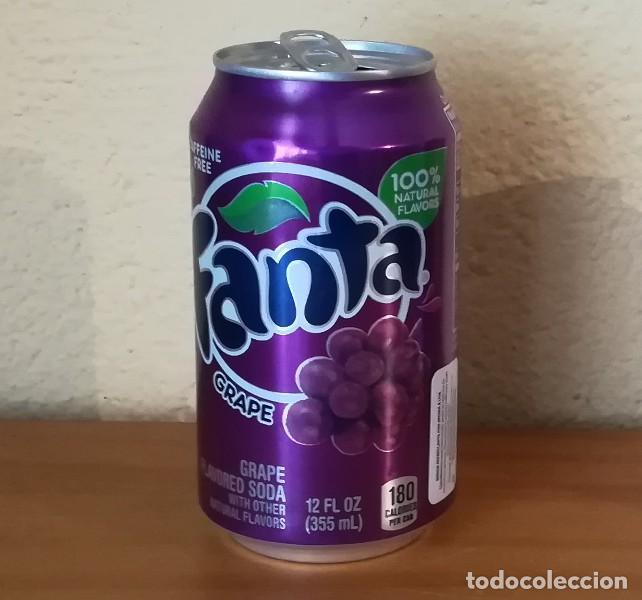 LATA FANTA GRAPE. USA CAN BOTE UVA ETIQUETA IMPORTACION (Coleccionismo - Botellas y Bebidas - Coca-Cola y Pepsi)