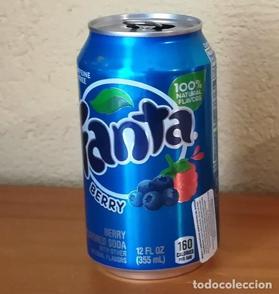LATA FANTA BERRY. USA CAN BOTE FRUTOS ROJOS ETIQUETA IMPORTACION (Coleccionismo - Botellas y Bebidas - Coca-Cola y Pepsi)