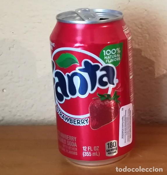 LATA FANTA STRAWBERRY. USA CAN BOTE FRAMBUESA ETIQUETA IMPORTACION (Coleccionismo - Botellas y Bebidas - Coca-Cola y Pepsi)