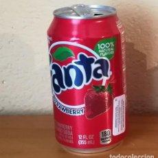 Coleccionismo de Coca-Cola y Pepsi: LATA FANTA STRAWBERRY. USA CAN BOTE FRAMBUESA ETIQUETA IMPORTACION. Lote 160691606