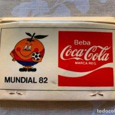 Coleccionismo de Coca-Cola y Pepsi: ANTIGUA CAJA DE CERILLAS COCA COLA,MUNDIAL ESPAÑA 82 - NARANJITO . Lote 160817110