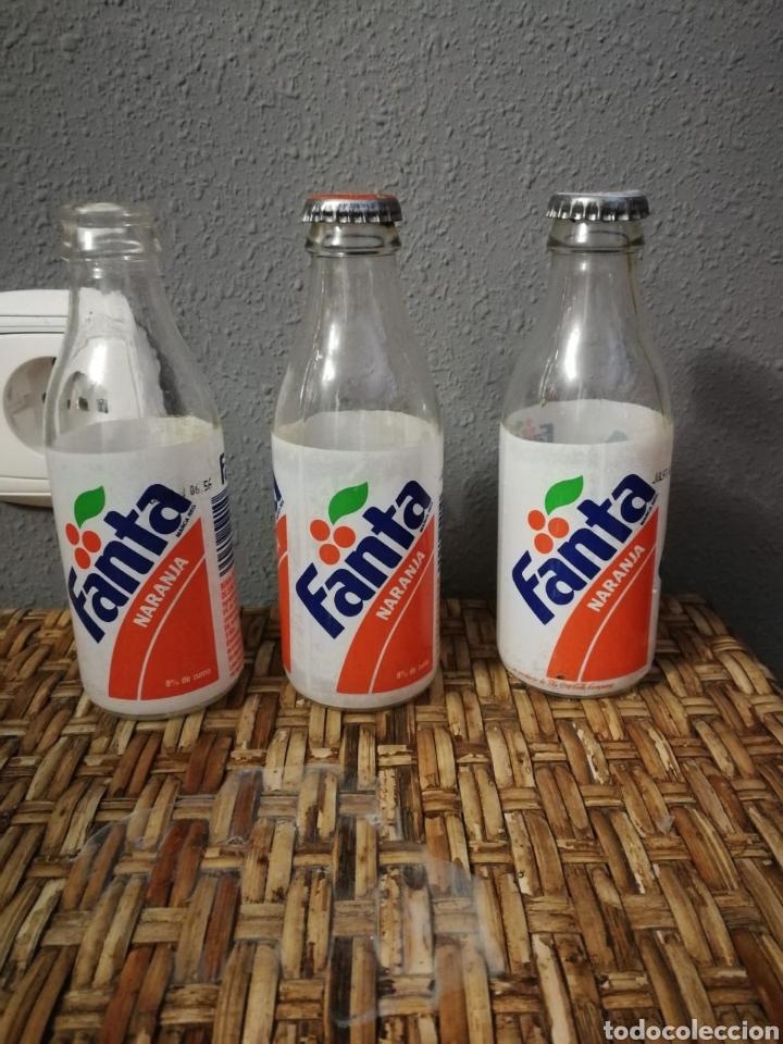 LOTE BOTELLIN DE FANTA NARANJA ETIQUETA (Coleccionismo - Botellas y Bebidas - Coca-Cola y Pepsi)