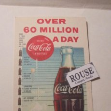 Coleccionismo de Coca-Cola y Pepsi: COCA COLA ANTIGUO SECANTE 1960 OVER 60 MILLION A DAY DRINK COCA COLA LITHO IN USA COPYRIGHT. Lote 161692730