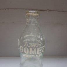 Coleccionismo de Coca-Cola y Pepsi: BOTELLA ANTIGUA ZUMOS GÓMEZ ESPUMOSOS GAL. Lote 162330276
