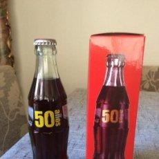 Coleccionismo de Coca-Cola y Pepsi: BOTELLA COCA COLA ESPAÑA 50 ANIVERSARIO. EDICIÓN LIMITADA 2.462 UNIDADES CON CAJA.. Lote 162403730