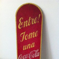 Coleccionismo de Coca-Cola y Pepsi: CARTEL LETRERO COCA-COLA CUBANO. ORIGINAL AÑO 1939. RARO. Lote 114606991