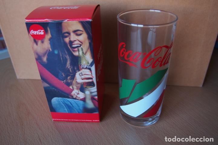 Coleccionismo de Coca-Cola y Pepsi: VASO COCA COLA. VERRE COCA-COLA. NUEVO CON SU CAJA ORIGINAL. DIFICIL DE CONSEGUIR ESTE MODELO. - Foto 2 - 164021474