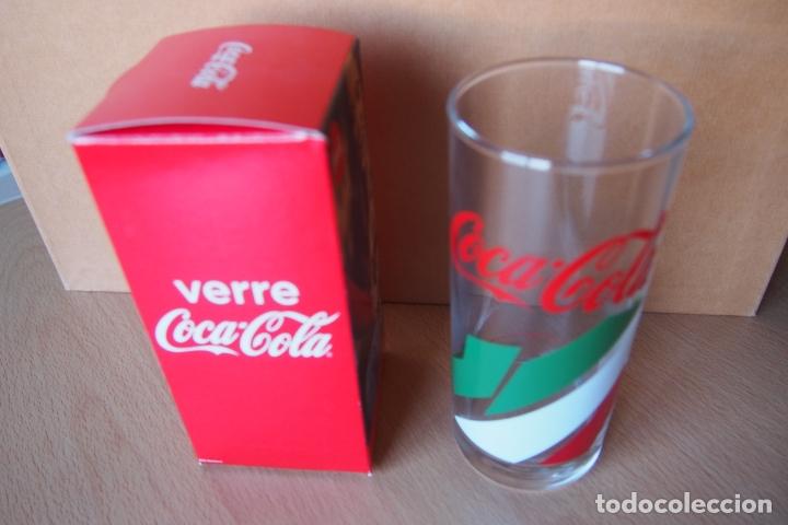 Coleccionismo de Coca-Cola y Pepsi: VASO COCA COLA. VERRE COCA-COLA. NUEVO CON SU CAJA ORIGINAL. DIFICIL DE CONSEGUIR ESTE MODELO. - Foto 3 - 164021474
