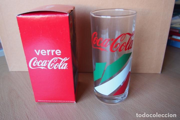 Coleccionismo de Coca-Cola y Pepsi: VASO COCA COLA. VERRE COCA-COLA. NUEVO CON SU CAJA ORIGINAL. DIFICIL DE CONSEGUIR ESTE MODELO. - Foto 4 - 164021474