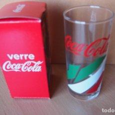 Coleccionismo de Coca-Cola y Pepsi: VASO COCA COLA. VERRE COCA-COLA. NUEVO CON SU CAJA ORIGINAL. DIFICIL DE CONSEGUIR ESTE MODELO.. Lote 164021474