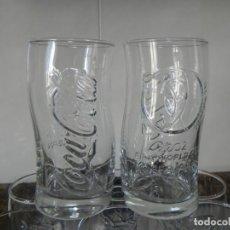 Coleccionismo de Coca-Cola y Pepsi: CONJUNTO DE 2 VASOS COCA COLA MUNDIAL FUTBOL FIFA WORLD KOREA JAPAN 2002 / SIN USAR . Lote 164827946
