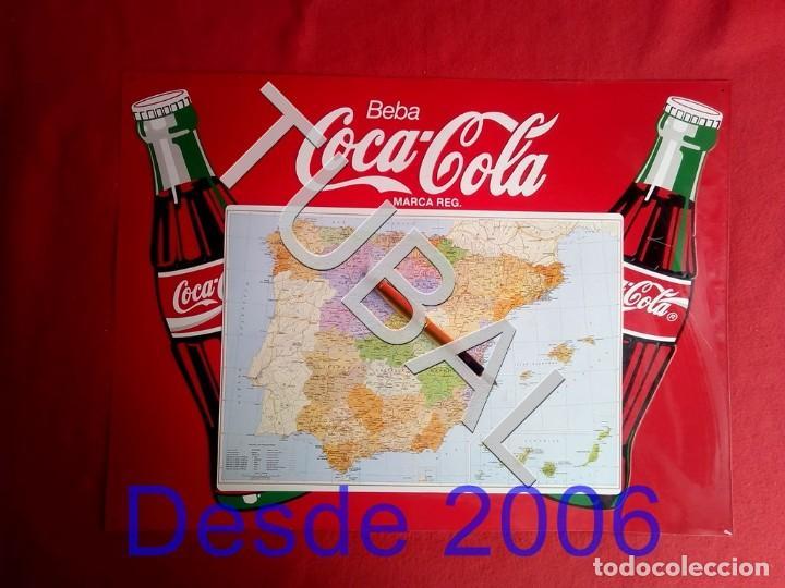 TUBAL CHAPA PLACA COCA COLA MAPA ESPAÑA GRANDE (Coleccionismo - Botellas y Bebidas - Coca-Cola y Pepsi)