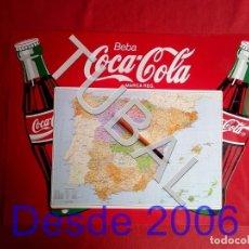 Coleccionismo de Coca-Cola y Pepsi: TUBAL CHAPA PLACA COCA COLA MAPA ESPAÑA GRANDE. Lote 164869774