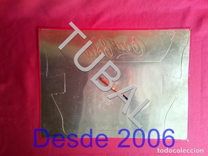 Coleccionismo de Coca-Cola y Pepsi: TUBAL chapa placa COCA COLA MAPA ESPAÑA GRANDE - Foto 3 - 164869774