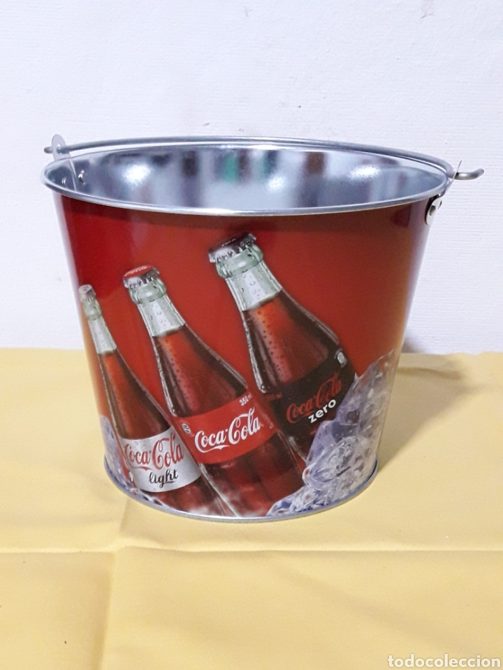 CUBO DE COCA-COLA DE CIM 19CM (Coleccionismo - Botellas y Bebidas - Coca-Cola y Pepsi)
