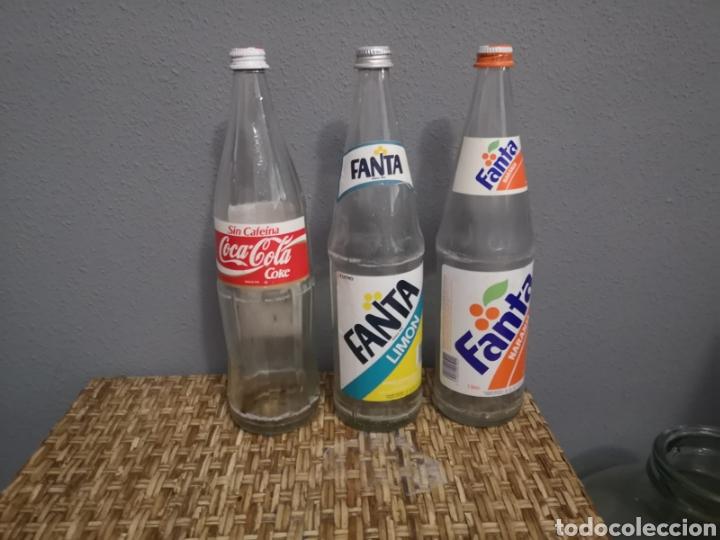 LOTE DE FANTA COCACOLA ETIQUETA DE LITRO (Coleccionismo - Botellas y Bebidas - Coca-Cola y Pepsi)