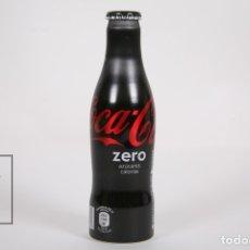 Coleccionismo de Coca-Cola y Pepsi: BOTELLA DE ALUMINIO - COCA COLA ZERO 250 ML / 125 ANIVERSARIO - LLENA - ALTURA 18,5 CM. Lote 213684152