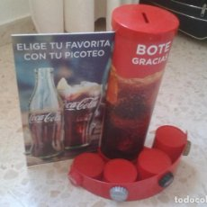 Coleccionismo de Coca-Cola y Pepsi: HUCHA CON DISPLAY PARA PROPINAS BOTE GRACIAS PUBLICIDAD COCA COLA COCACOLA COKE CON TU PICOTEO VER F. Lote 166014526