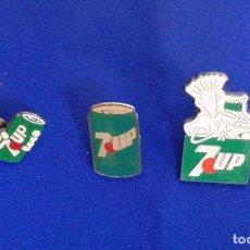 Coleccionismo de Coca-Cola y Pepsi: PINS LOTE BEBIDA SEVEN UP- FIDO DIDO. Lote 167707868